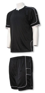 Vittoria Soccer uniform kit in black/black by Code Four Athletics