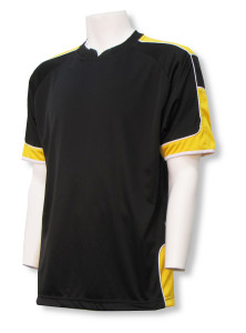 Nova soccer jersey in black/gold