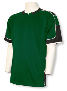 Nova soccer jersey in forest/black