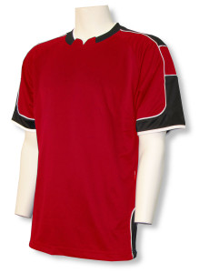 Nova soccer jersey in red/black