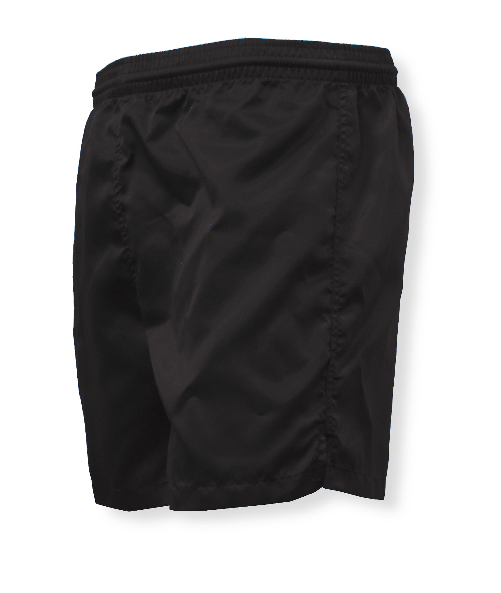 Olympic nylon satin shorts in black by Code Four Athletics
