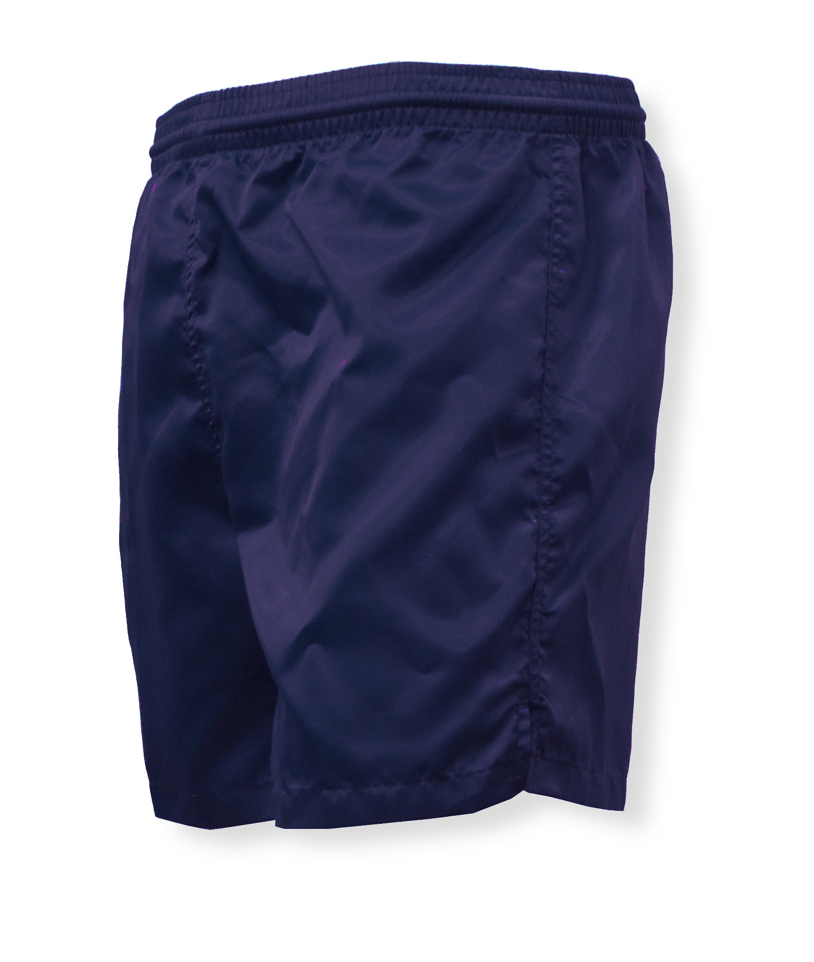 Olympic nylon satin shorts in navy by Code Four Athletics