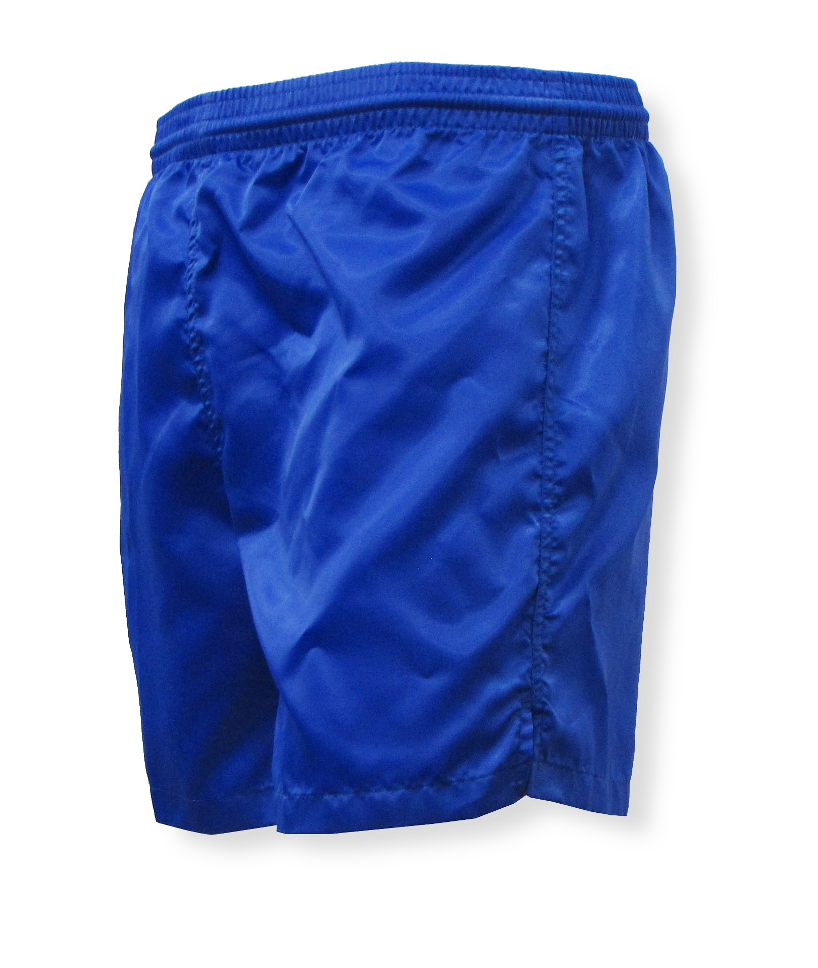 Olympic nylon satin shorts in royal by Code Four Athletics
