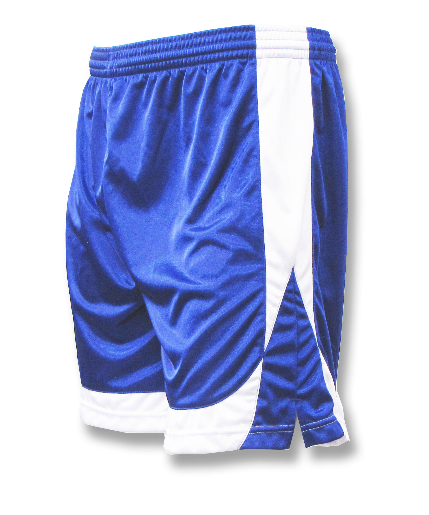 Omega soccer shorts in royal/white by Code Four Athletics