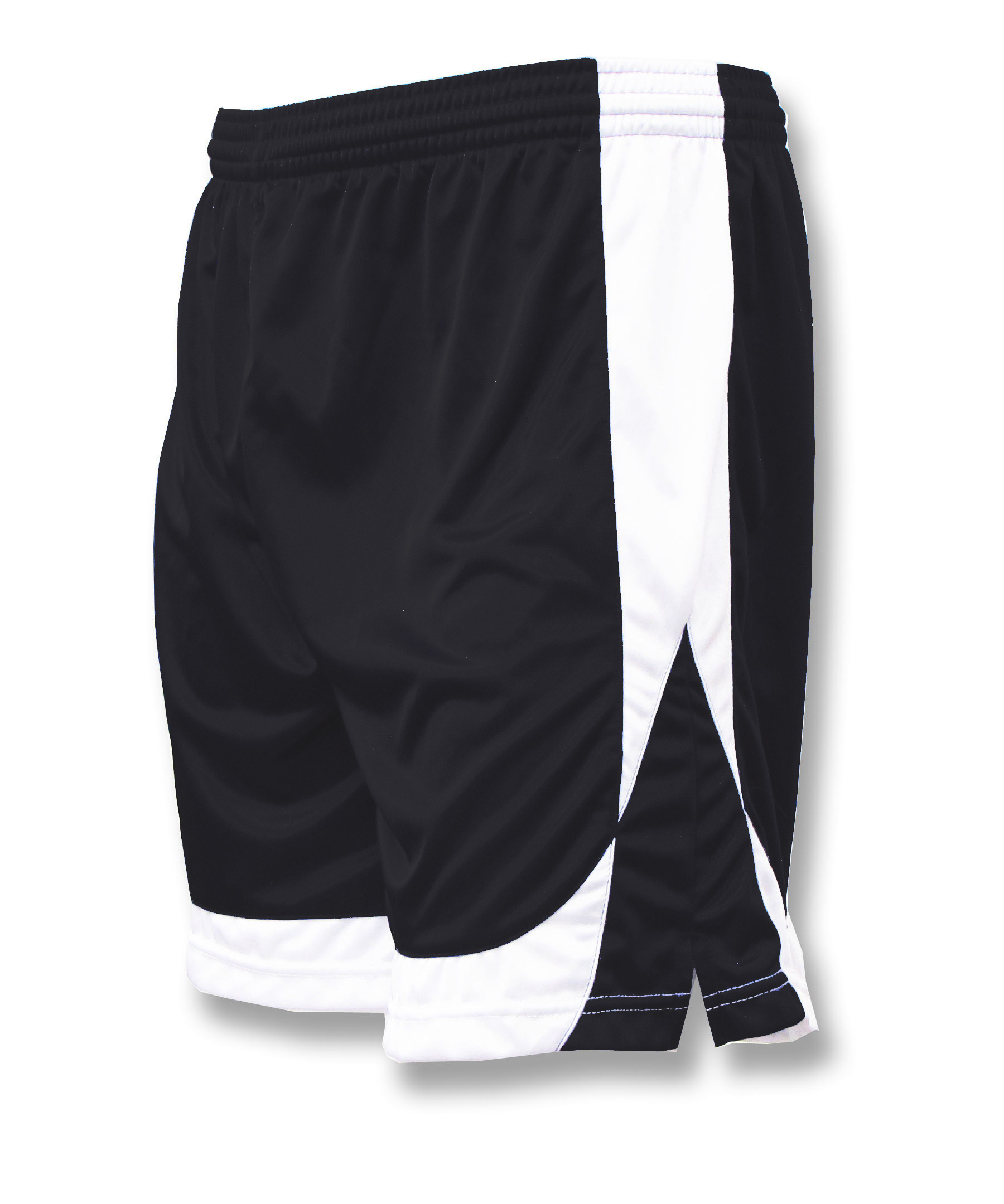Omega soccer shorts in black/white by Code Four Athletics