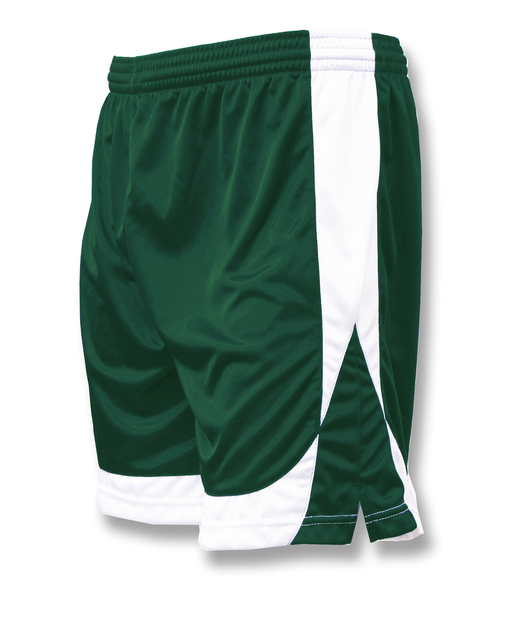 Omega soccer shorts in forest/white by Code Four Athletics