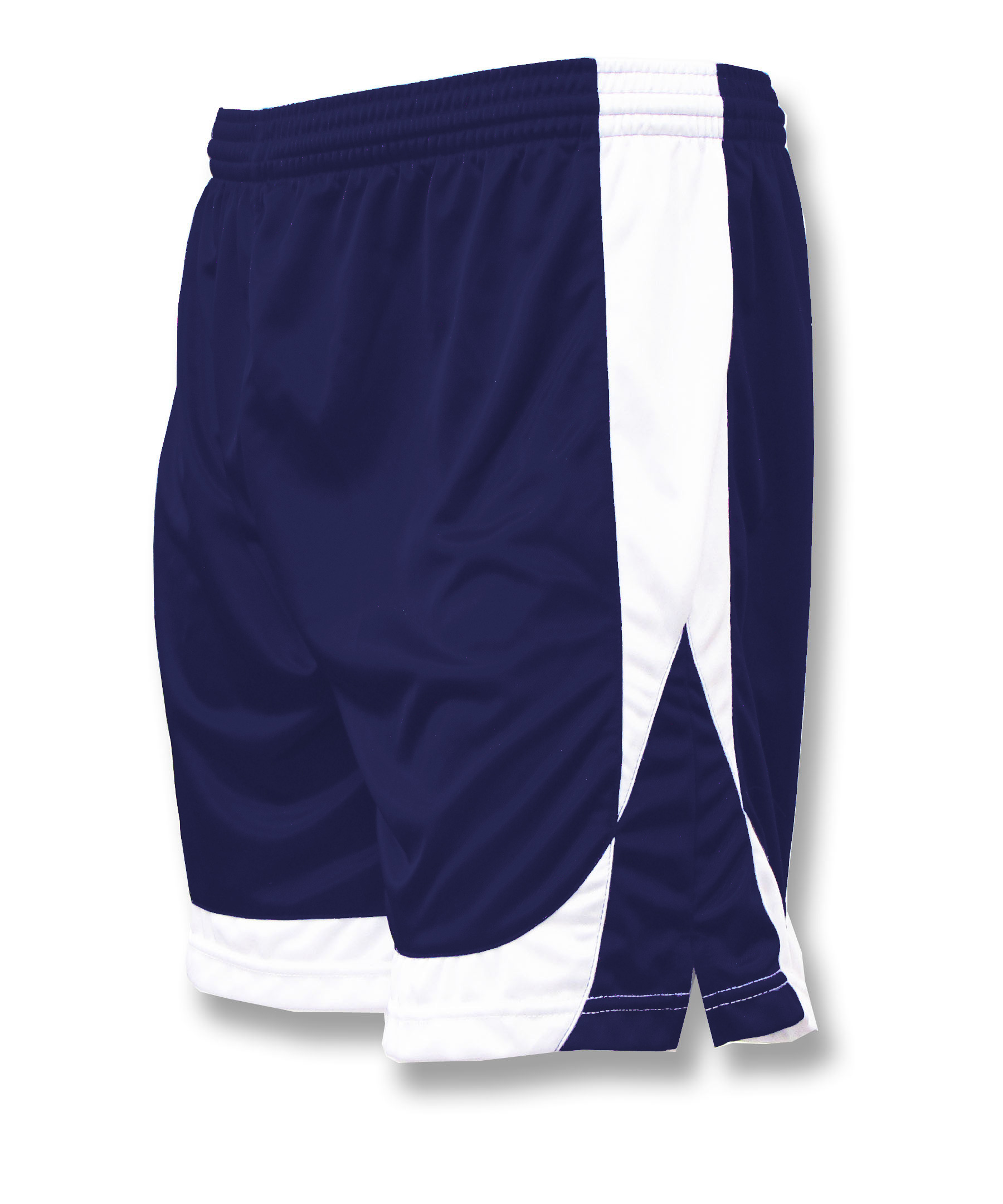 Omega soccer shorts in navy/white by Code Four Athletics