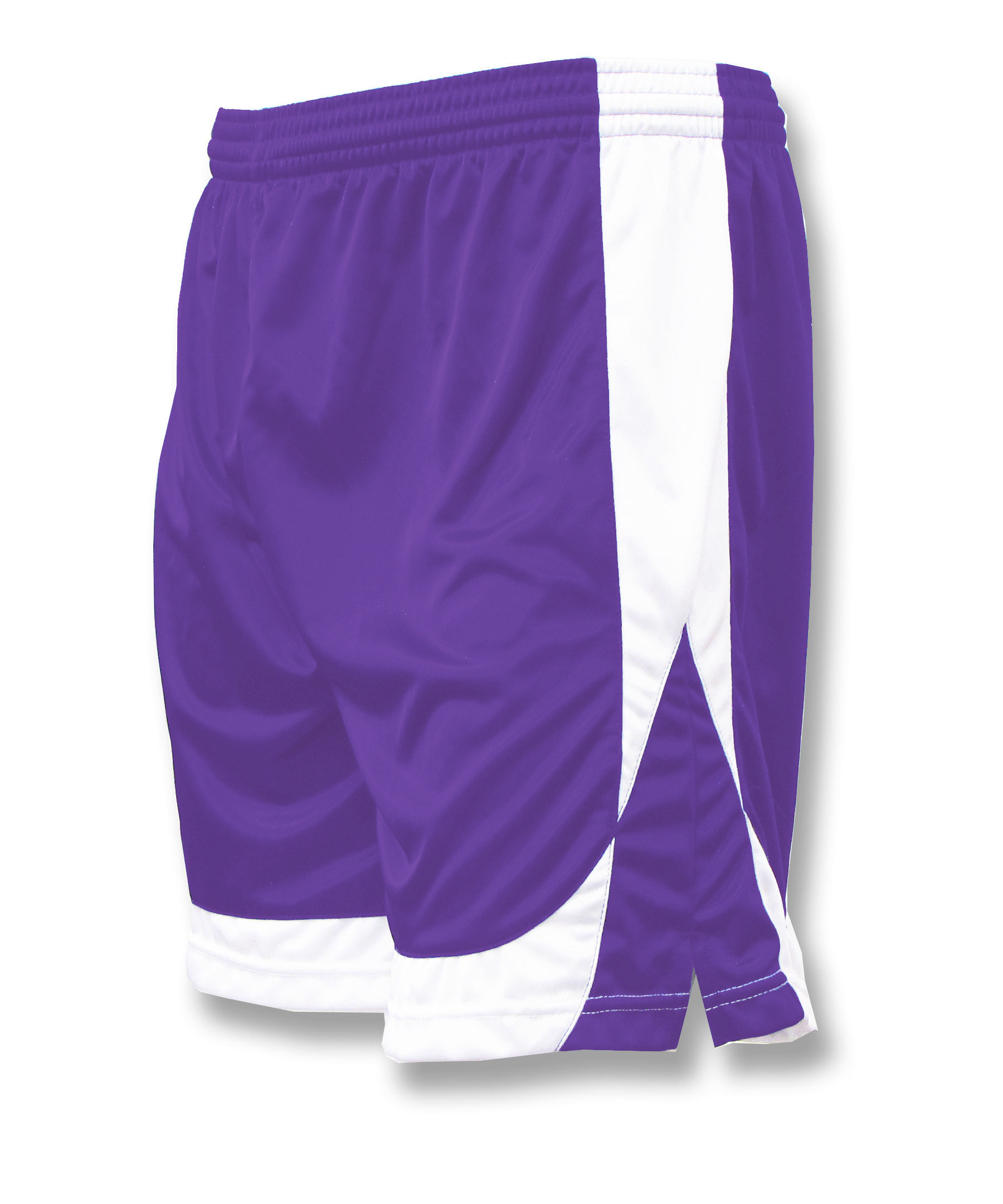 Omega soccer shorts in purple/white by Code Four Athletics