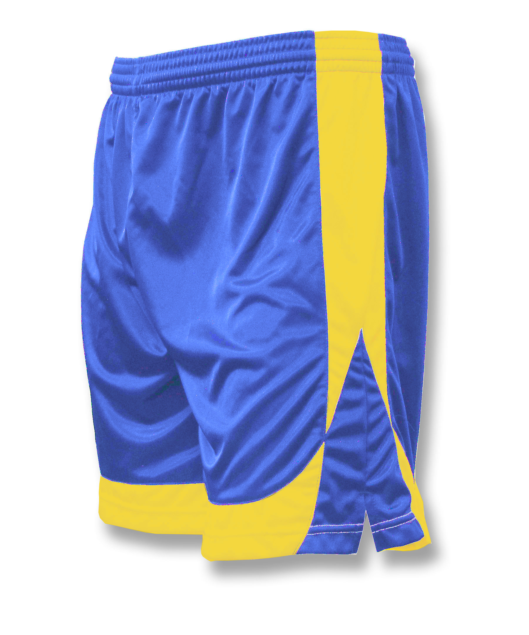 Omega soccer shorts in royal/gold by Code Four Athletics