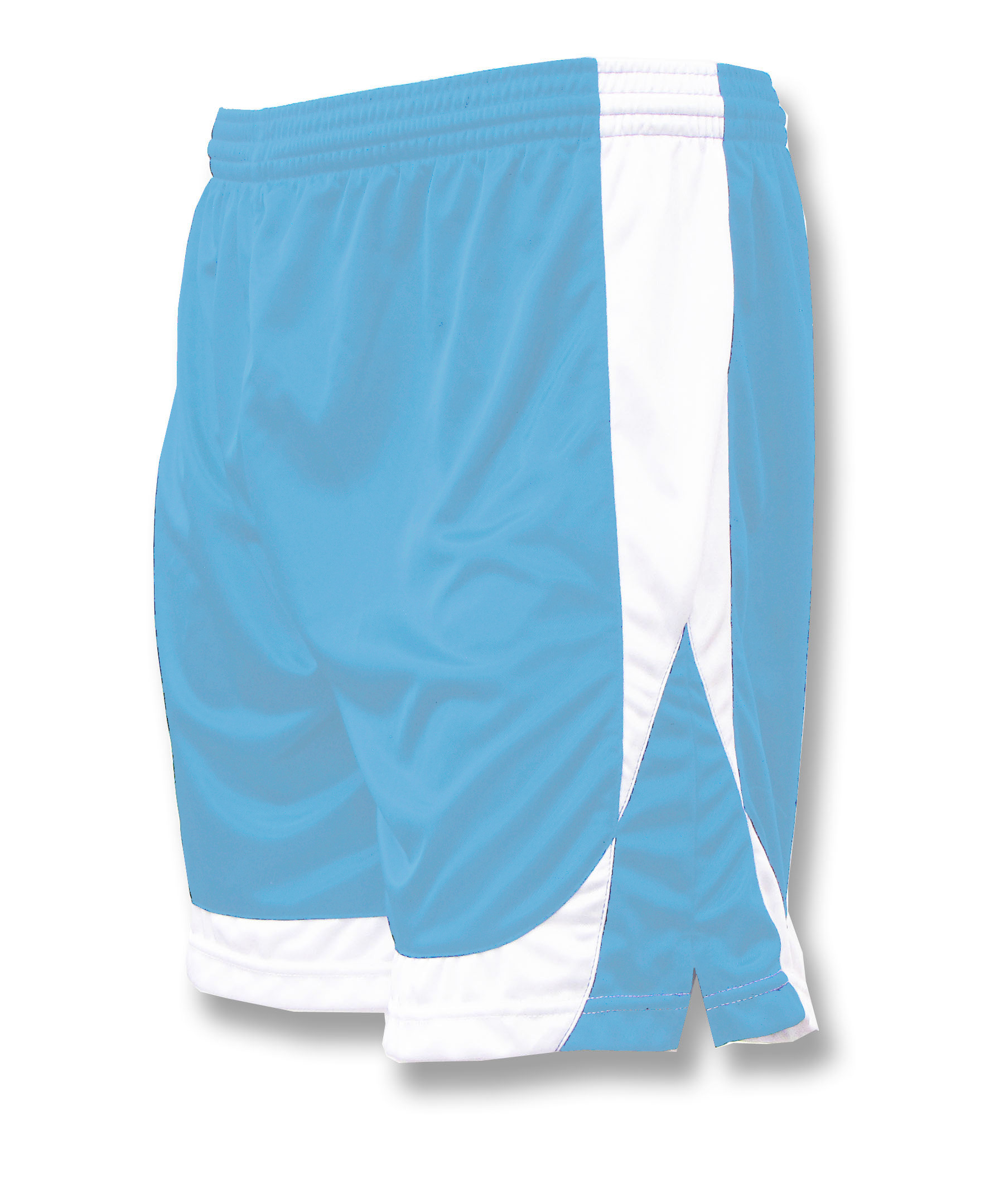 Omega soccer shorts in sky/white by Code Four Athletics