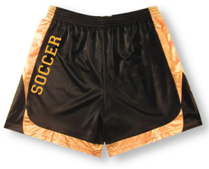 Spirit Wear Soccer Two-Tone shorts in black/gold