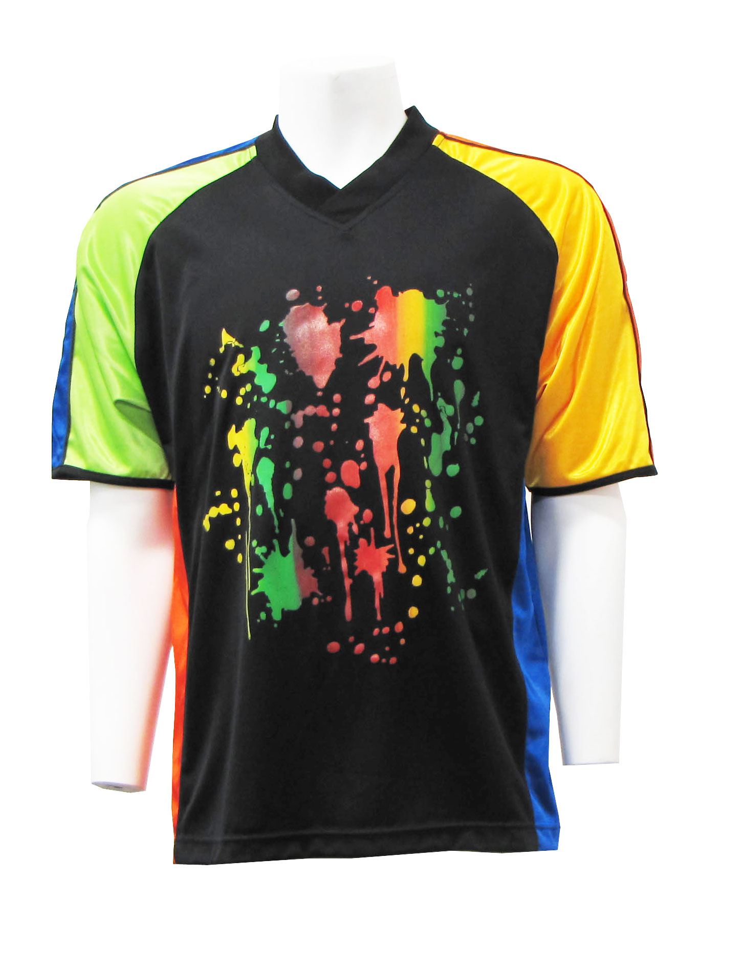 Paintball Splat short-sleeve soccer goalie jersey by Code Four Athletics