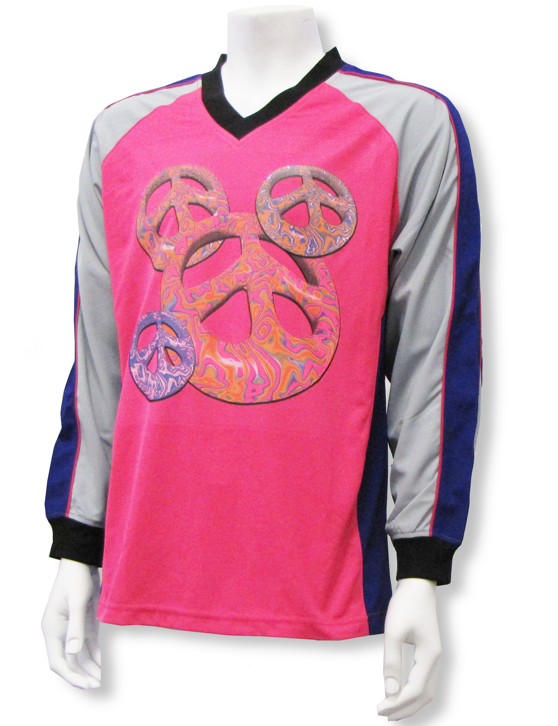 Peace Symbol soccer goalie jersey by Code Four Athletics