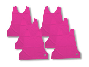 Pinnies for soccer 6-pk b y Code Four Athletics in raspberry
