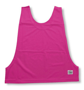 Soccer pinny in raspberry by Code Four Athletics