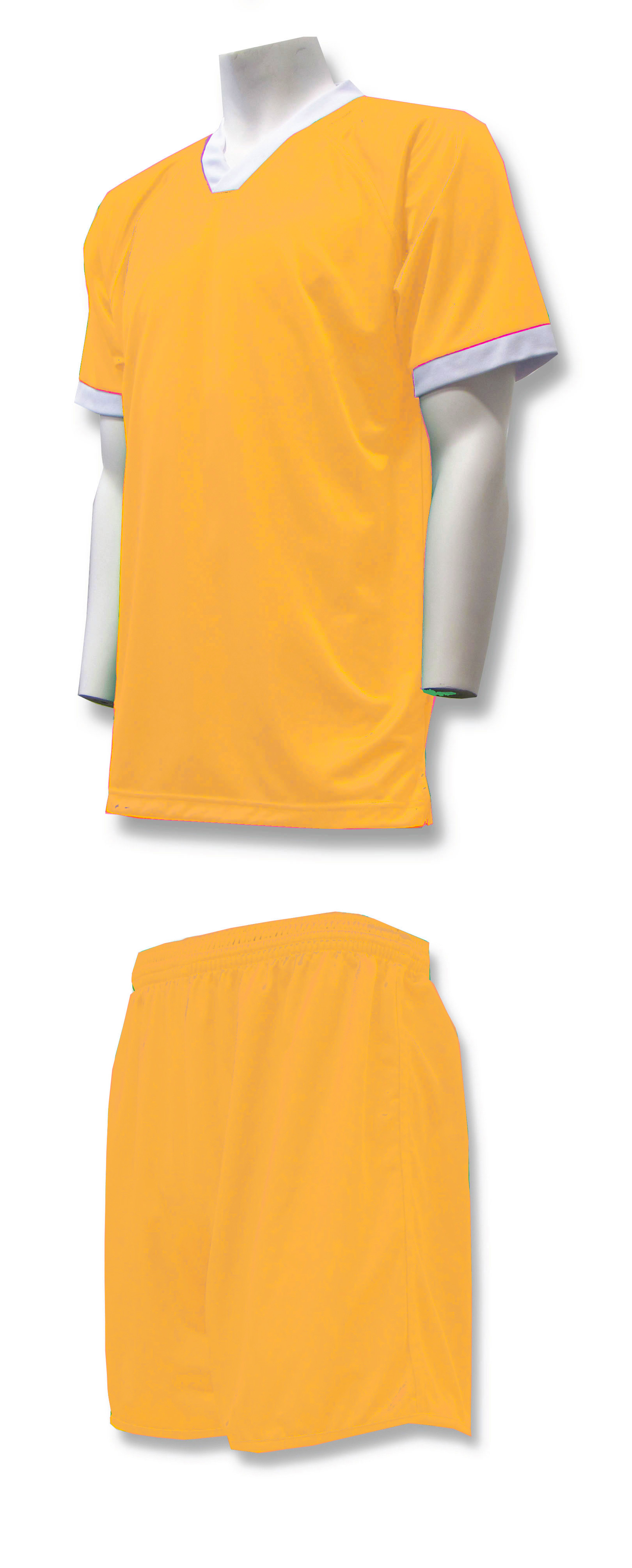 Forza soccer uniform kit in gold by Code Four Athletics