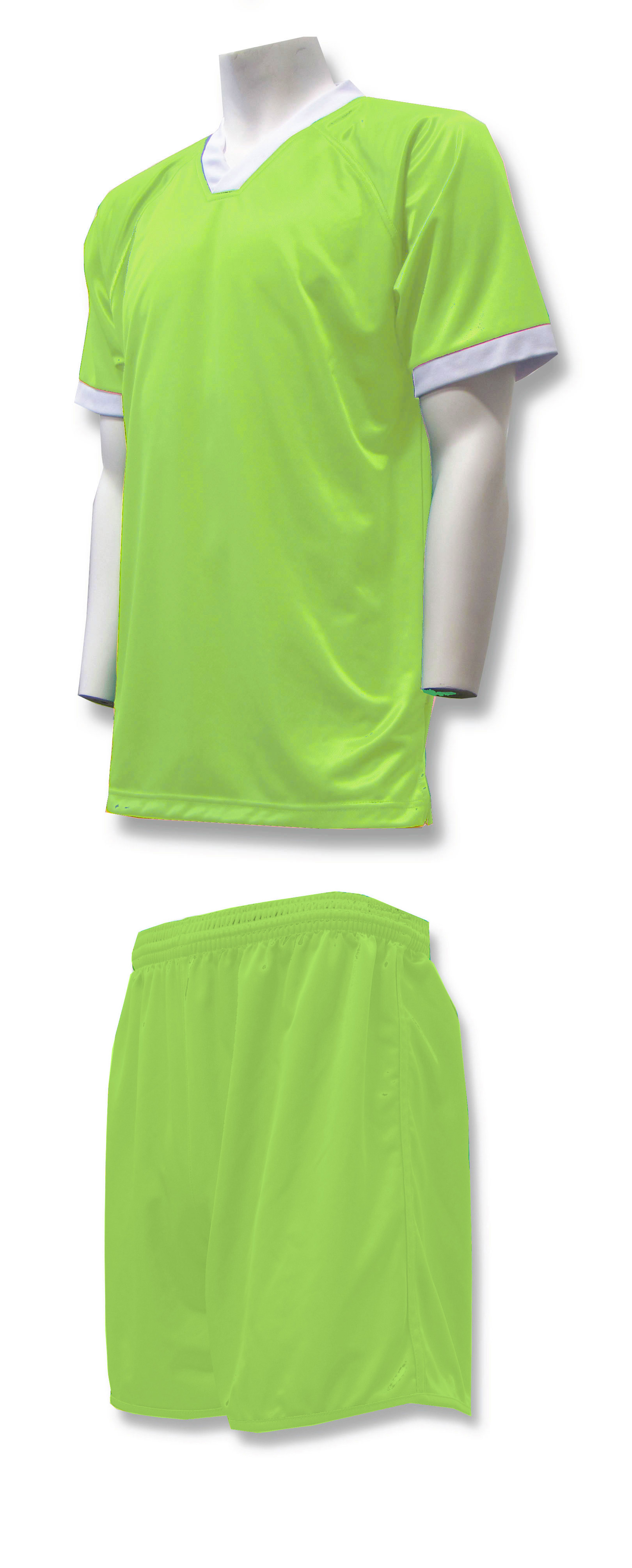 Forza soccer uniform kit in lime by Code Four Athletics