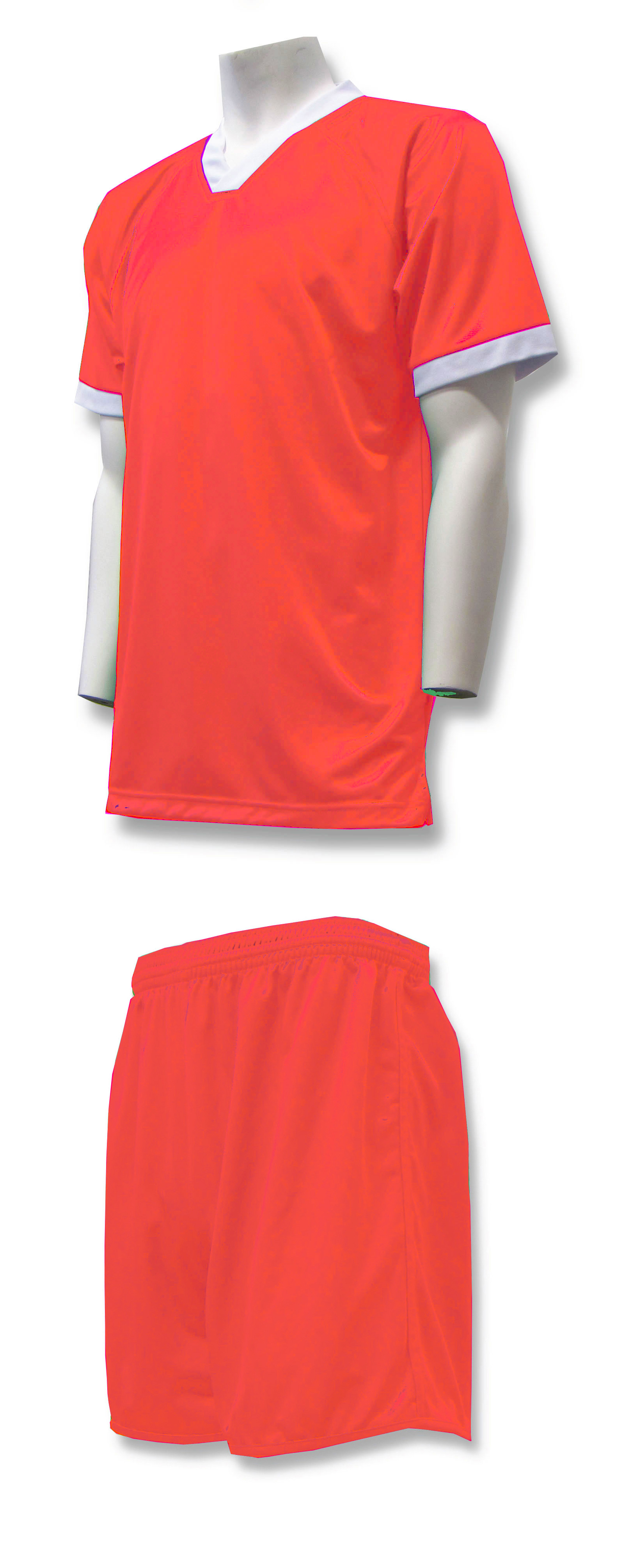 Forza soccer uniform kit in orange by Code Four Athletics