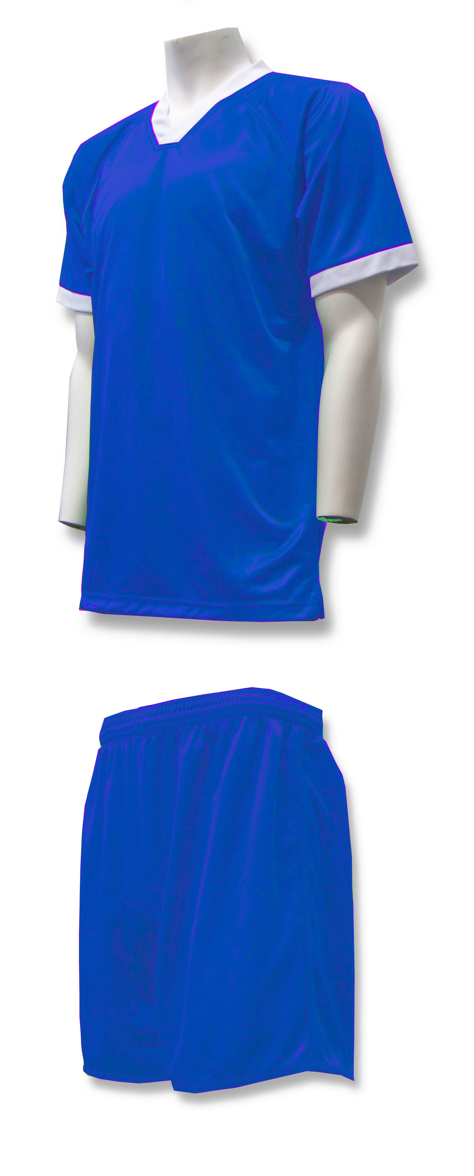 Forza soccer uniform kit in royal by Code Four Athletics
