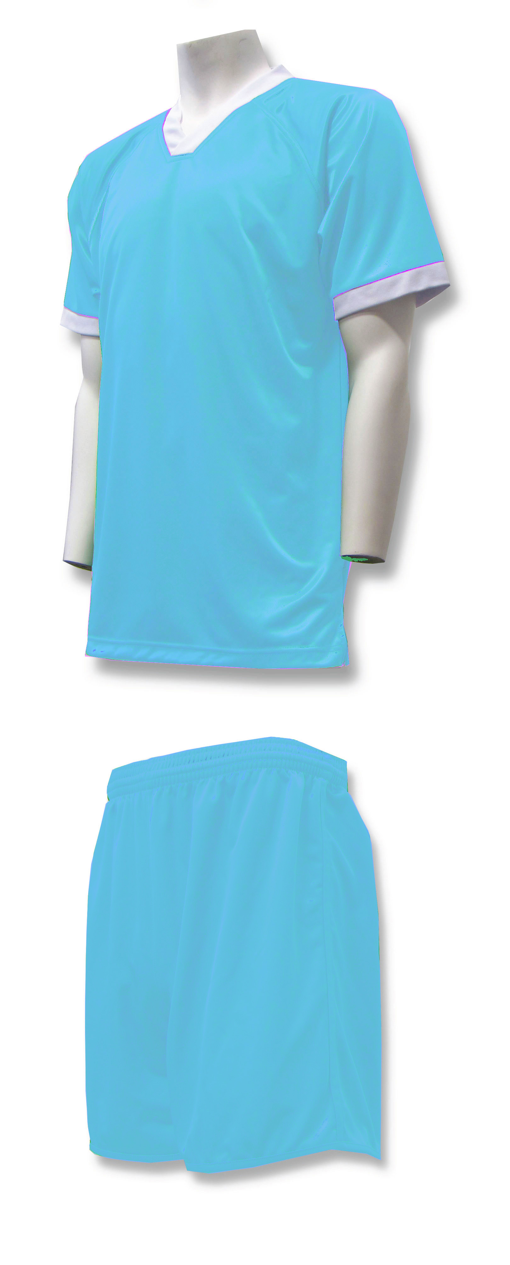 Forza soccer uniform kit in sky blue by Code Four Athletics