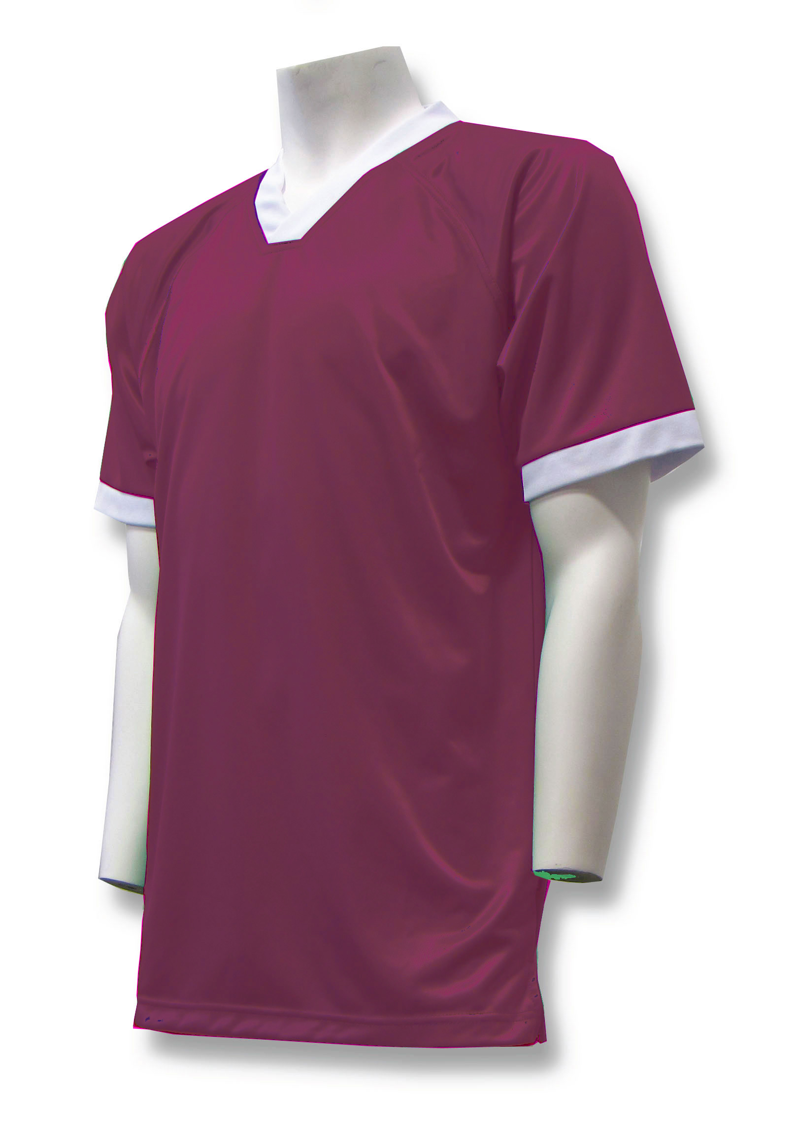 Pioneer soccer jersey in maroon by Code Four Athletics