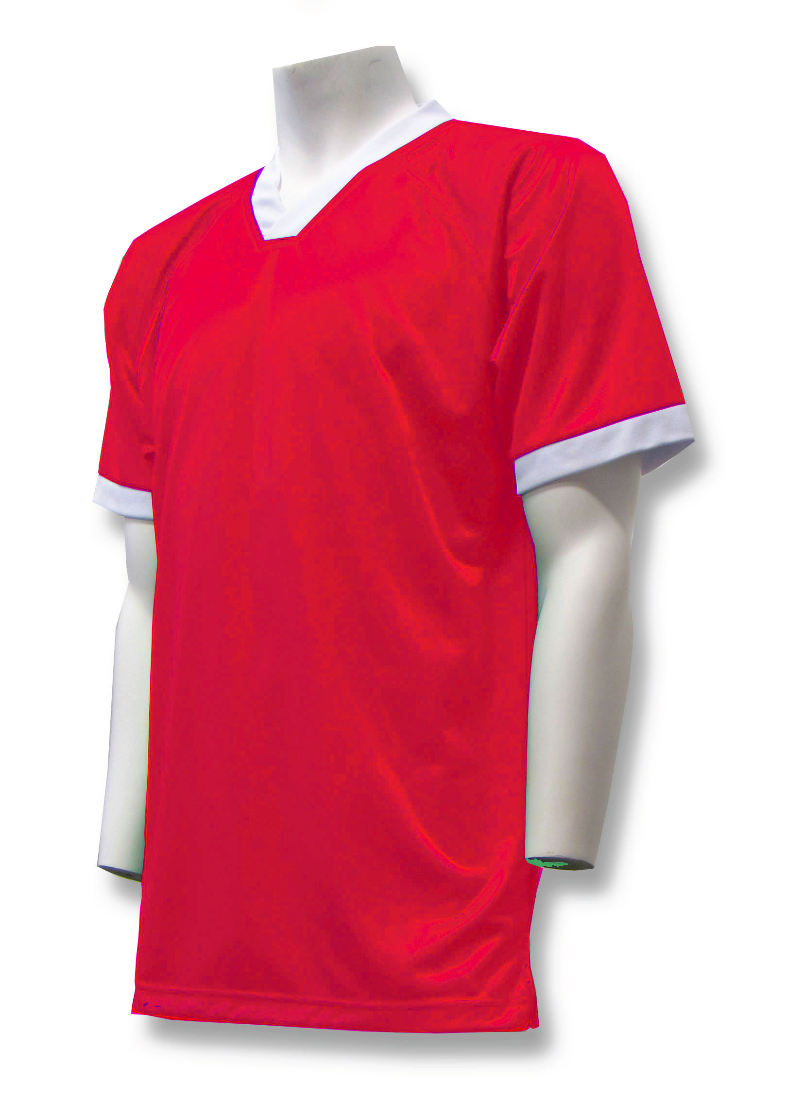 Pioneer soccer jersey in red by Code Four Athletics