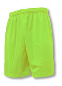 Pro style soccer shorts in lime by Code Four Athletics