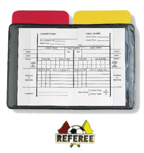Soccer Referee Wallet and Pin Set
