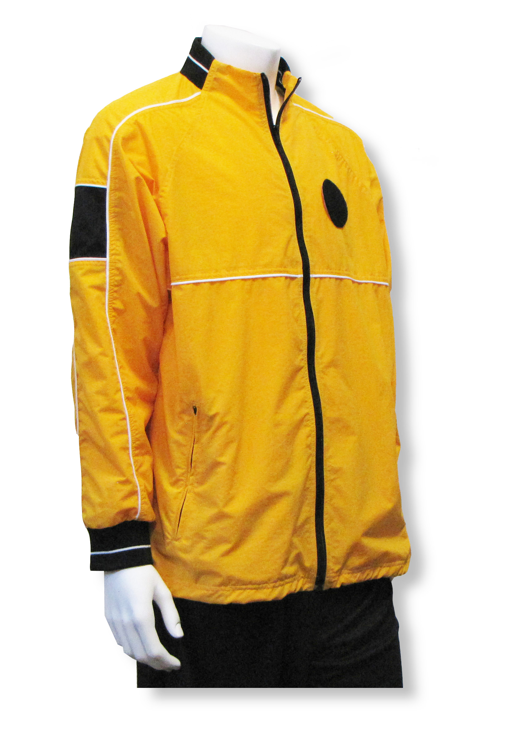 Soccer referee jacket in gold with badge holder by Code Four Athletics