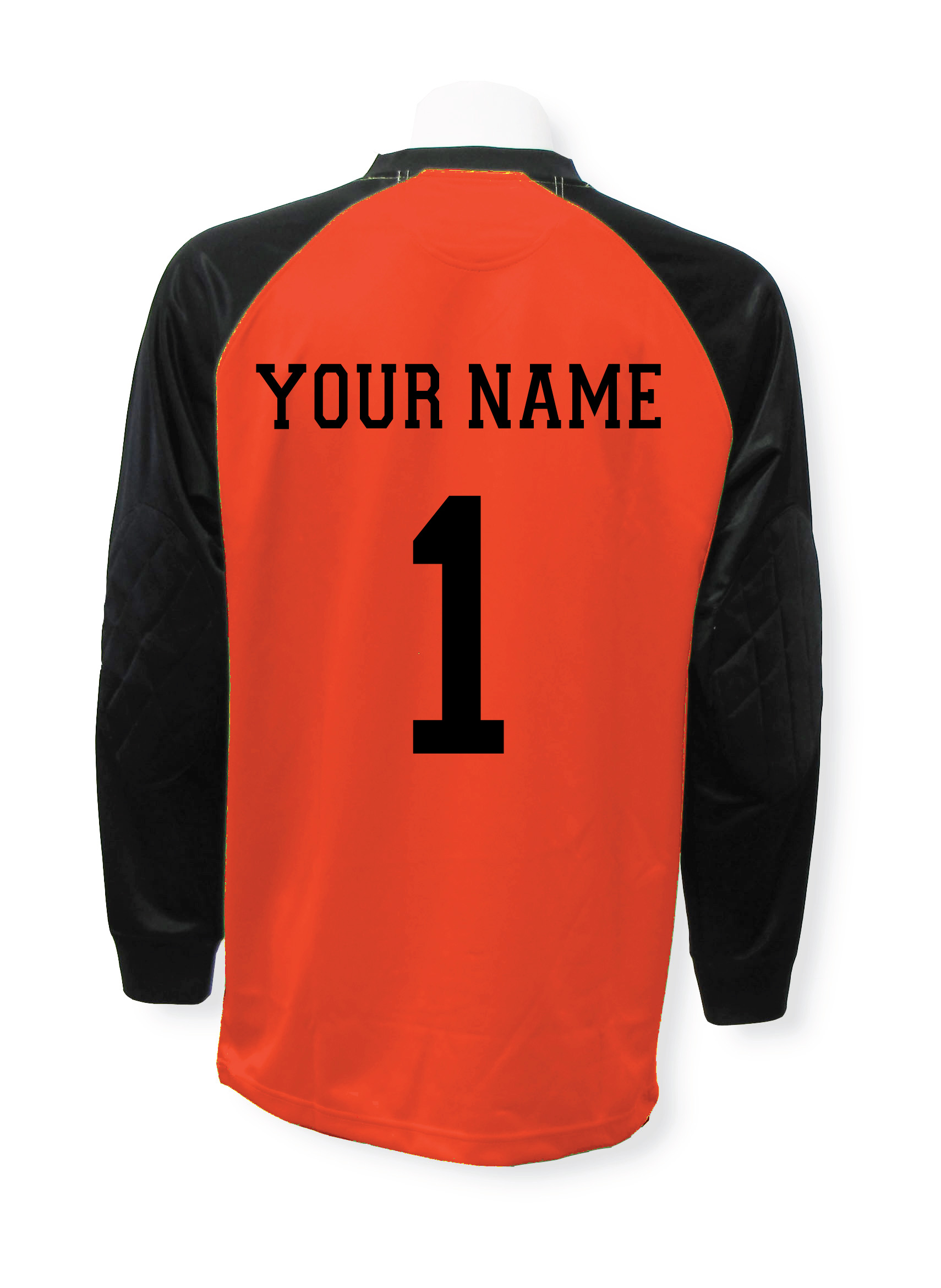 Personalized soccer goalie jersey with name and number by Code Four Athletics