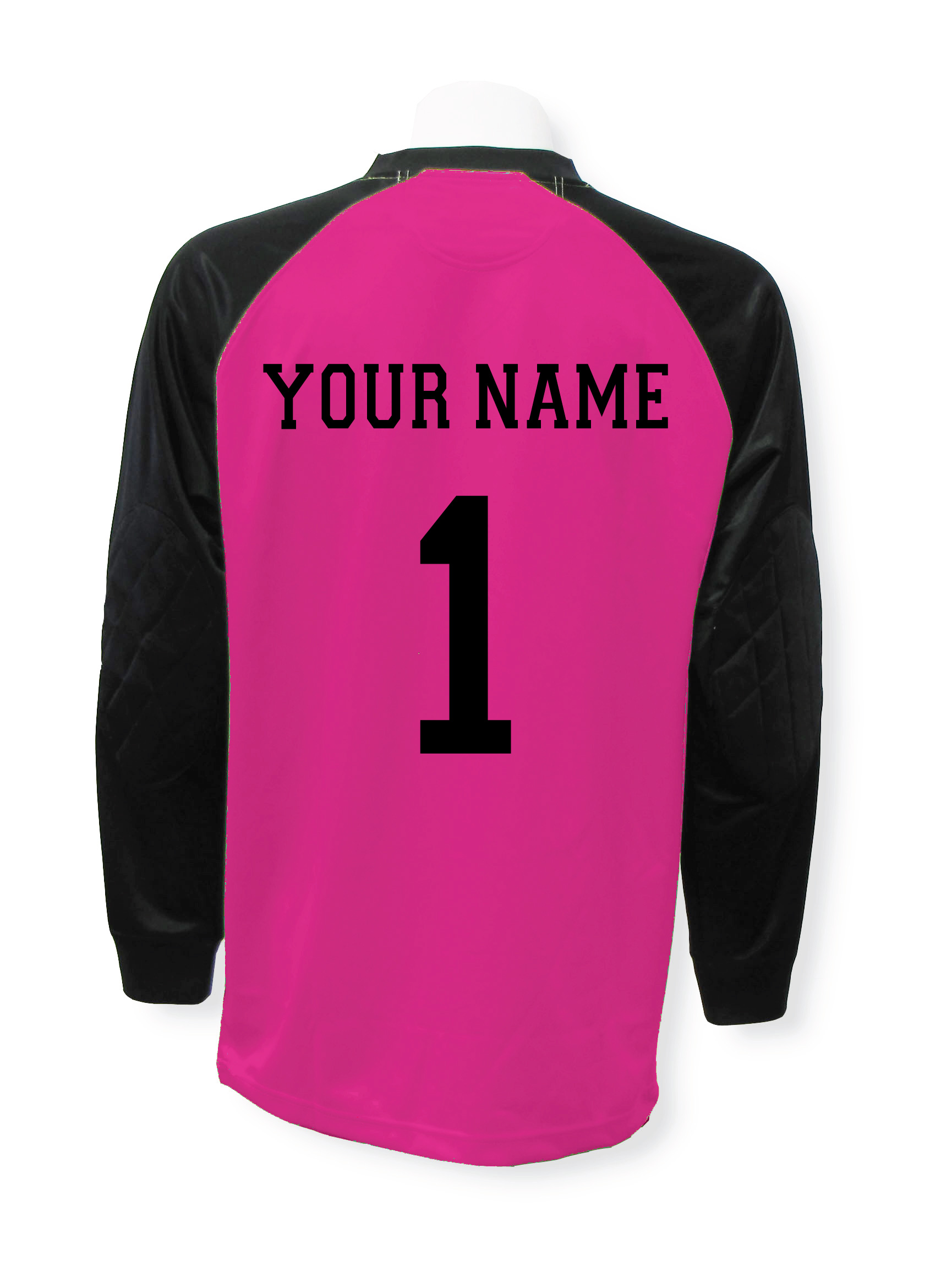Soccer goalie jersey customized with your name and number by Code Four Athletics