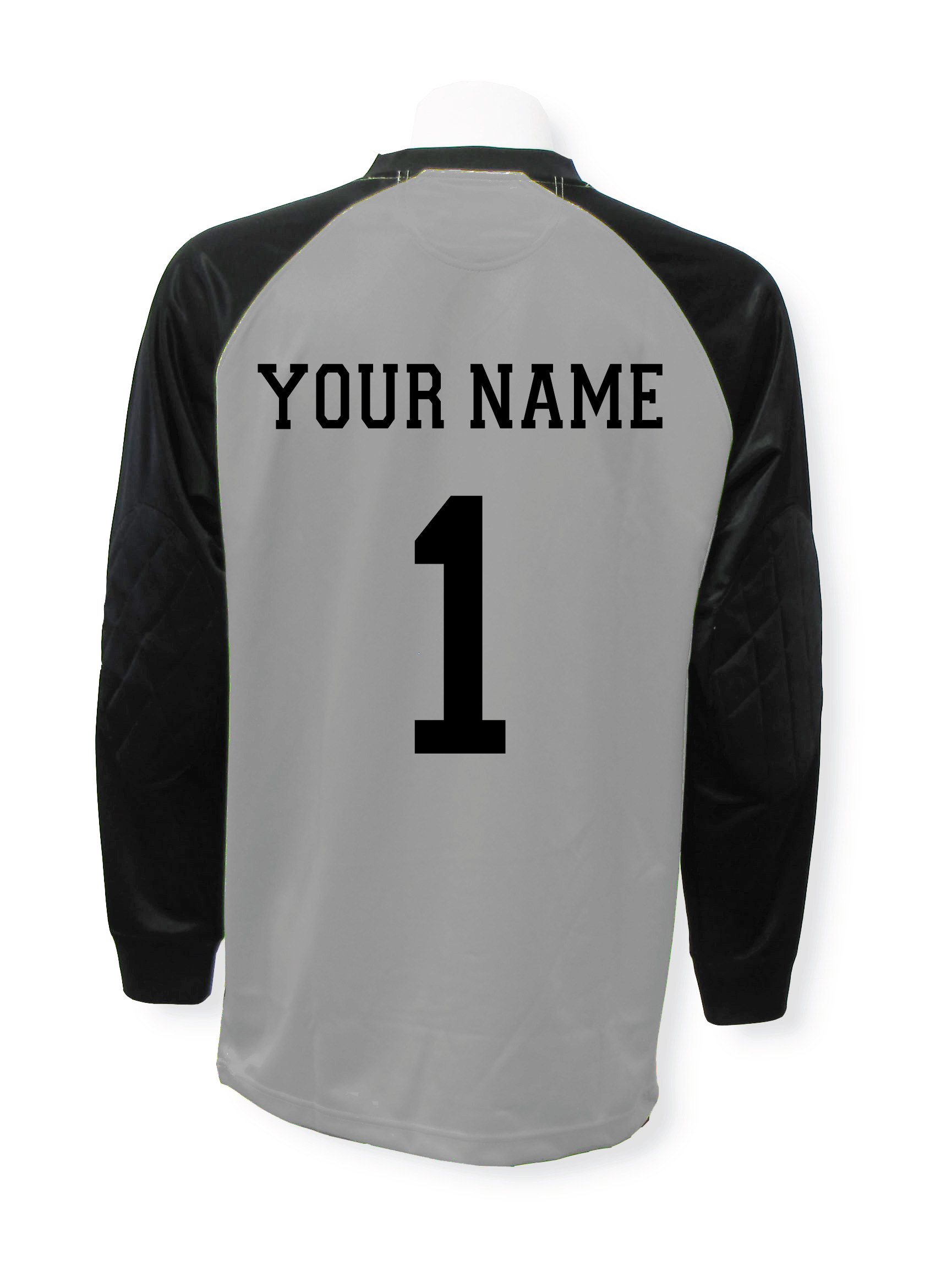 Personalized soccer keeper jersey with name and number by Code Four Athletics