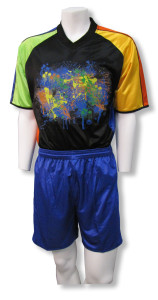 Short-sleeve goalie jersey with shorts