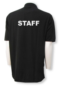 Staff polo back