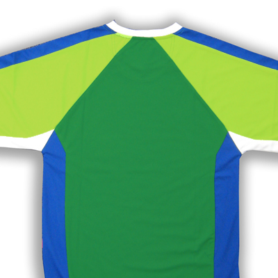 back of Seattle soccer jersey for number placement