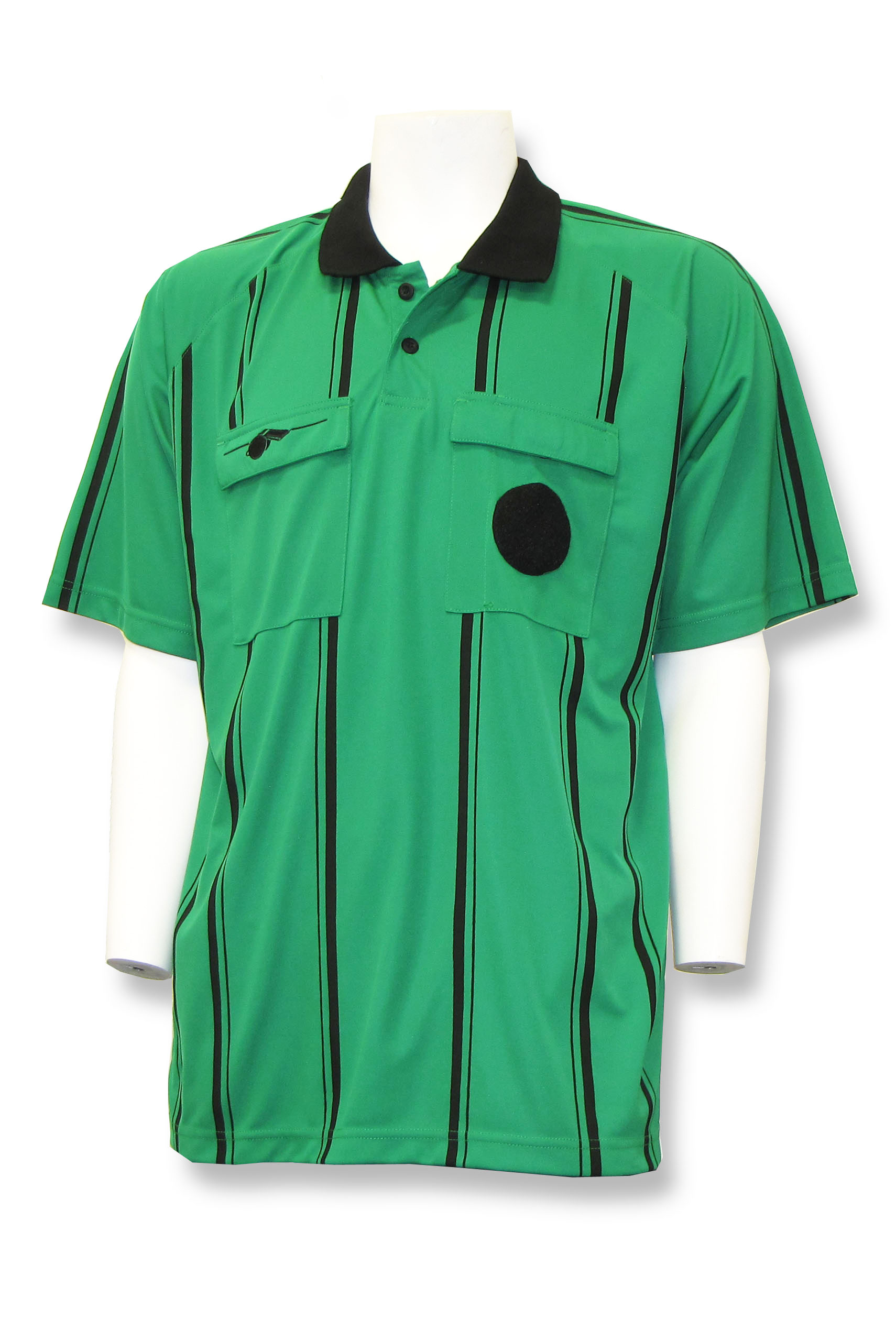 Short sleeve soccer referee jersey by Whistleline in green