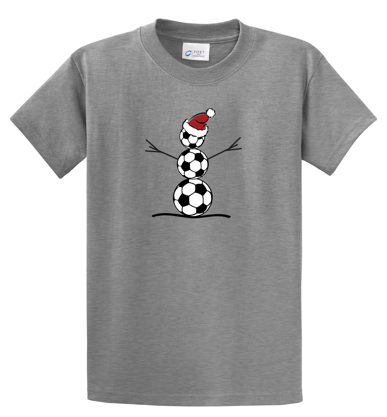 Soccer Snowman tshirt in athletic heather by Code Four Athletics