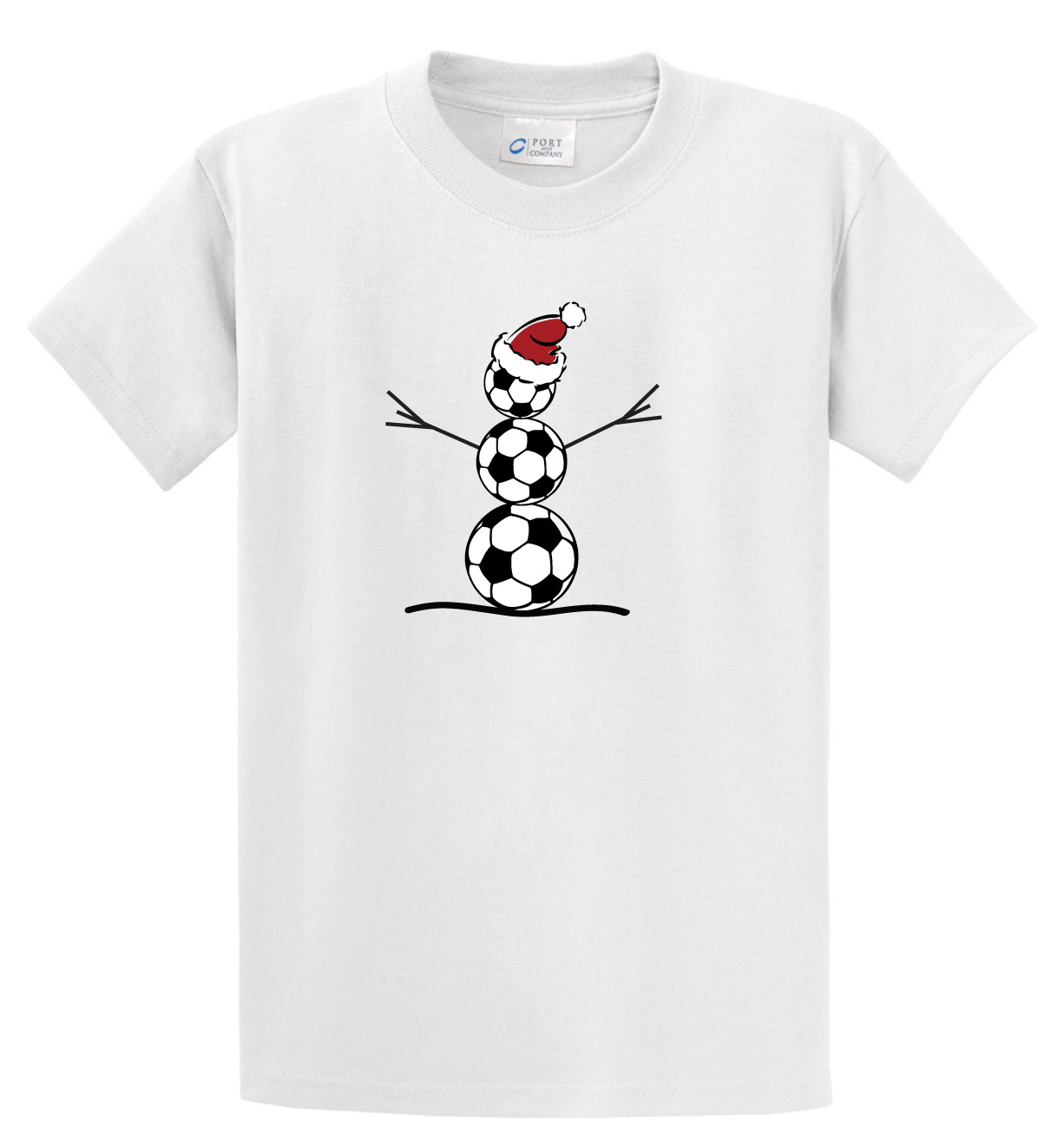 Code Four Athletics Soccer Snowman short sleeve t shirt in white