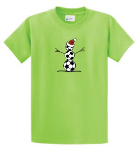 Soccer Snowman T-shirt in lime by Code Four Athletics