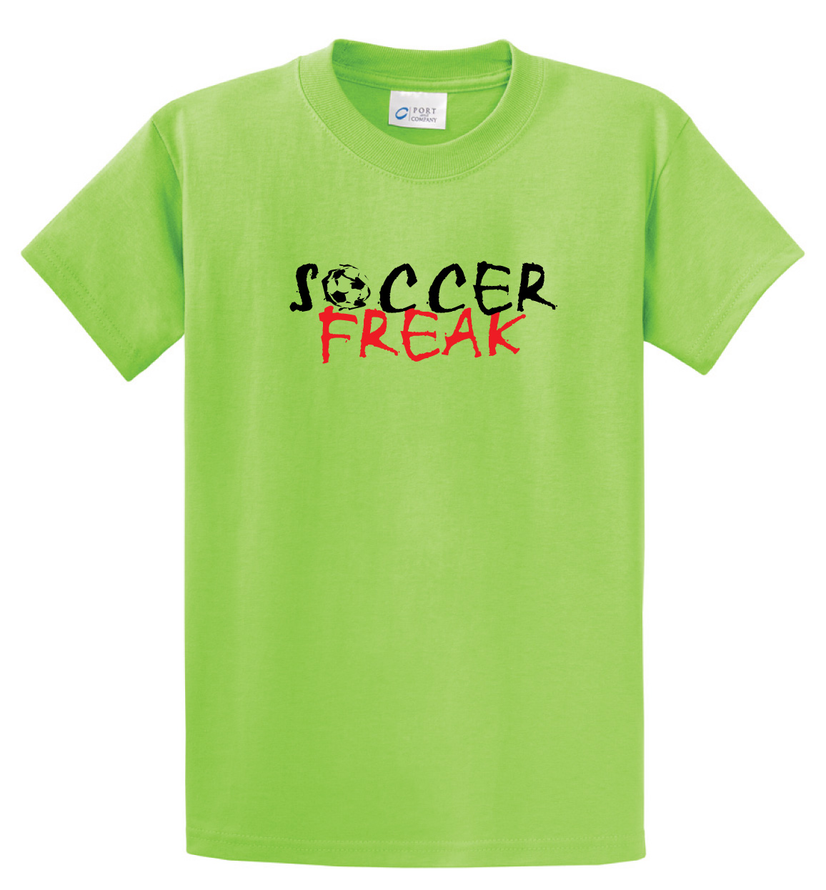 Soccer Freak Tshirt in lime by Code Four Athletics