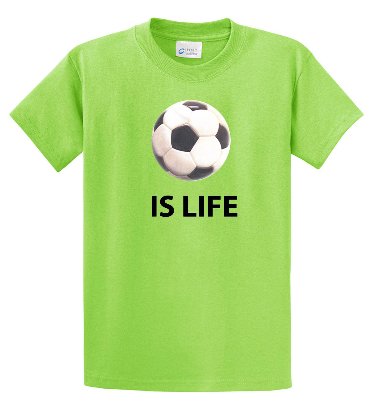 Ball is Life (Soccer Edition) Tshirt in lime by Code Four Athletics