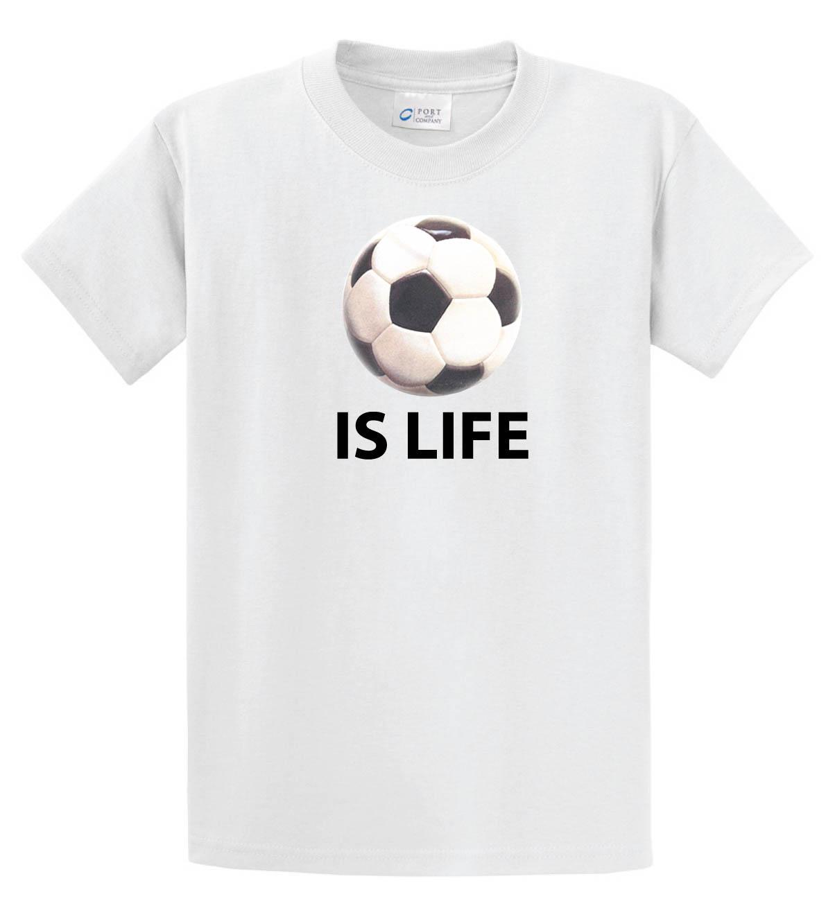 Ball is Life Tshirt (Soccer Edition) in white by Code Four Athletics