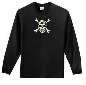Soccer Skull long-sleeve tee
