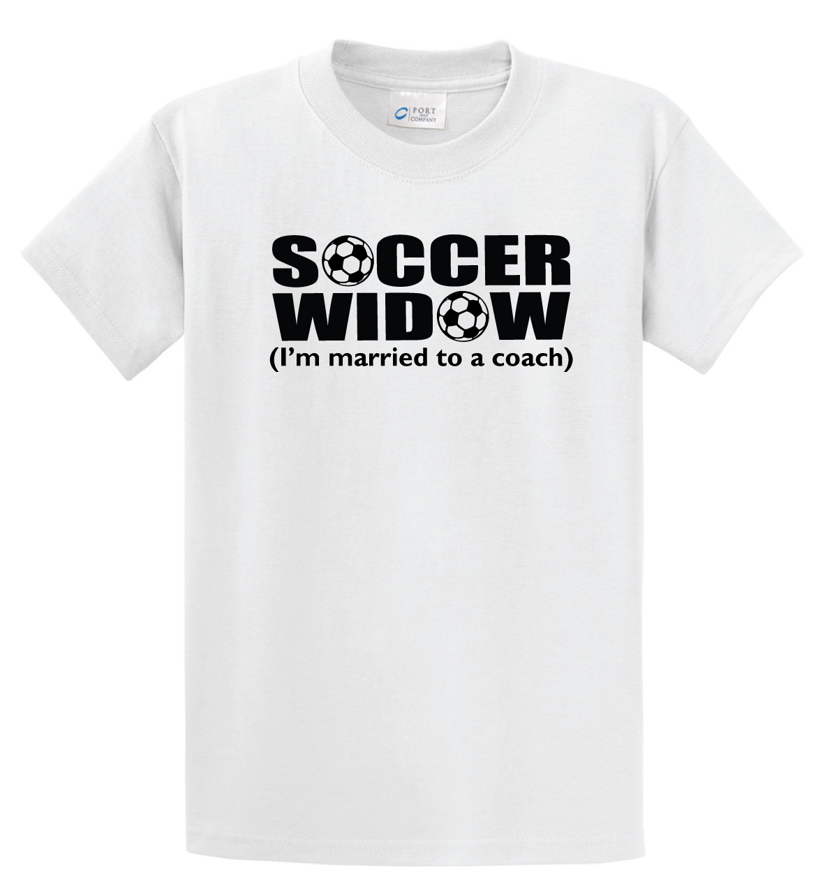 Soccer Widow Tshirt in white by Code Four Athletics