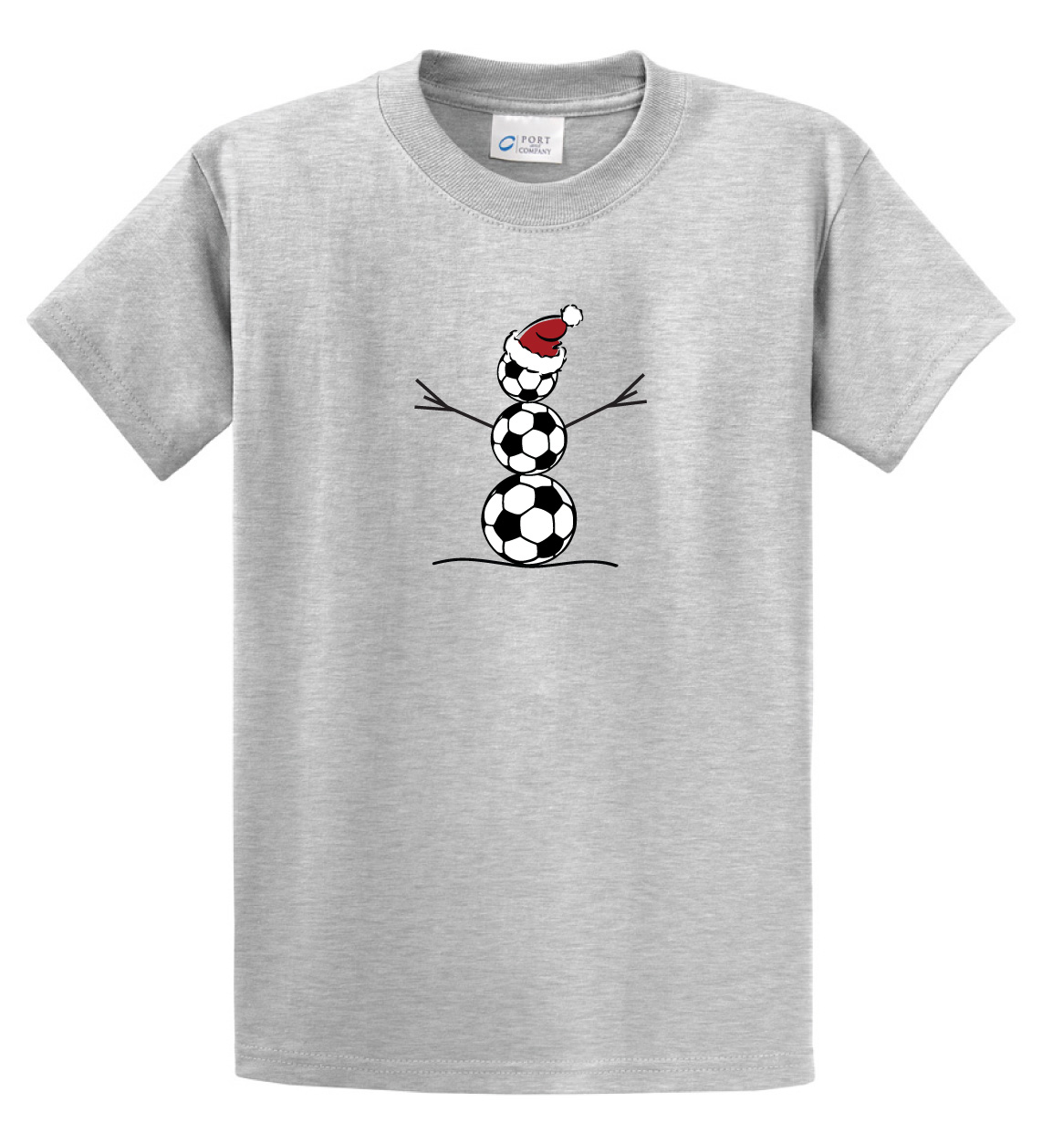 Soccer Snowman short sleeve tshirt in ash by Code Four Athletics