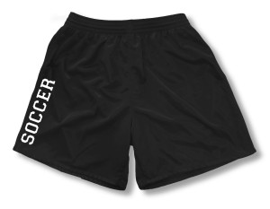 Spiritwear soccer sports shorts for girls, in black