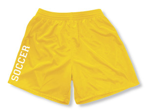 Spritwear Soccer Sport Shorts for girls, in gold