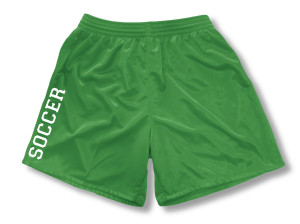 Spritwear Soccer Sport Shorts for Girls, in kelly
