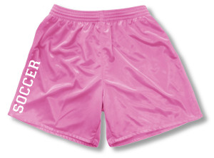 Spipritwear soccer shorts for girls, in pink