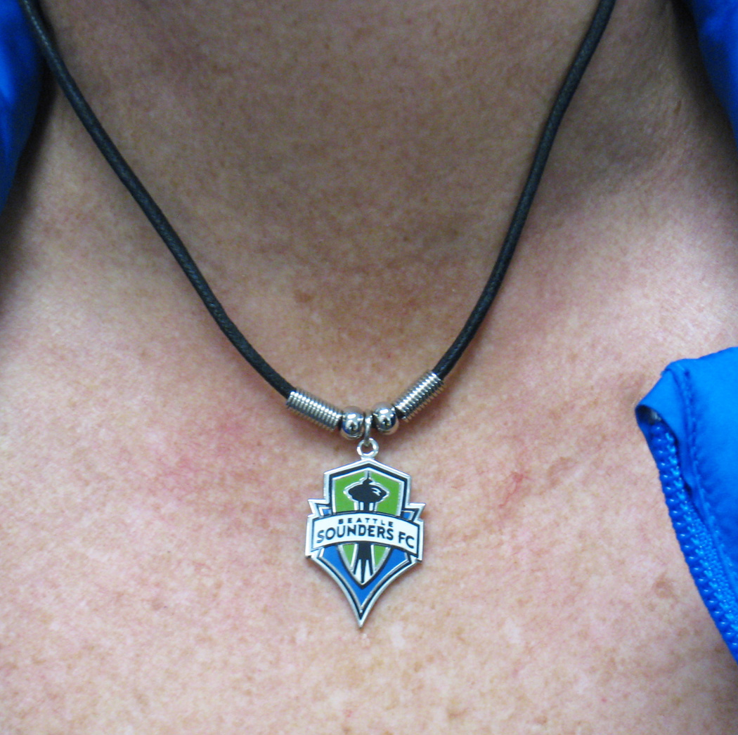 Seattle Sounders necklace by Code FOur Athletics